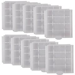 4×AA / AAA電池 - ホワイト(10個入り)のための専門の高品質の保護PVC収納ケース
