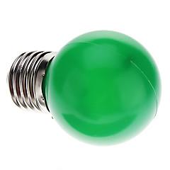 0.5W E26/E27 LED Globe Bulbs G45 7 Dip LED 50 lm Green Decorative AC 220-240 V