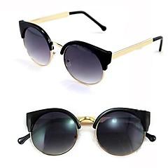 Frauen Jahrgang Cat Eye Super-Runde Metallkreis Sonnenbrillen