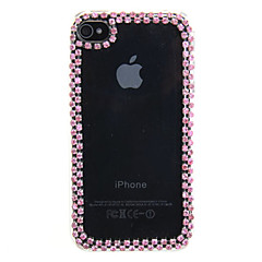 Drill Decorated Frame Back Case for iPhone 4/4S(Assorted Color)