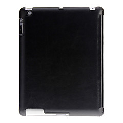Auto Sleep Svart Crazy Horse Leather Full Body Fodral med Multi-veck stativ för iPad 2/3/4