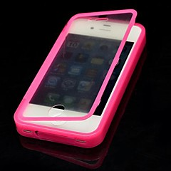 Solid Color with Touch Screen Full Body Case for iPhone 4/4S(Assorted Color)