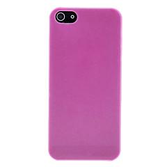 단색 초박형 0.2mm의 투명 아이폰 5/5S를위한 광택이없는 PC 하드 케이스 (분류 된 색깔)