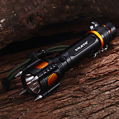 5-Mode Cree XM-L T6 Four Attack Heads Audible Alarm Impact Resistant LED Flashlights(1x18650,2000LM)