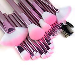 Conjunto de Pinceis para Maquiagem Profissional com 22 peças, rosa.