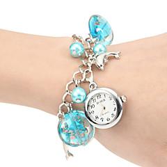Women's Underwater World Concept ronde wijzerplaat legering band Quartz analoog armband horloge