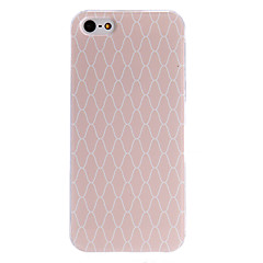 Pink Check Pattern PC Hard Case with Transparent Frame for iPhone 5/5S