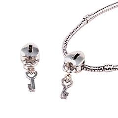 hjärta legering whorled stort hål DIY pärlor för halsband eller armband