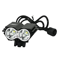 Marsing B22 2 x Cree XM-L T6 1200lm 3-Mode White Mountain Bike Light / Ajovalojen - Musta (4 x 18650)