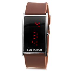 Homens LED Red Digital banda silicone relógio de pulso (cores sortidas)