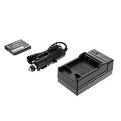 ismartdigi - 파나 DMW-BCF10의 940mah, PanasonicFH1 FH3 FH20 FH22 F2 FX68를위한 3.6V 카메라 배터리 + 차량용 충전기