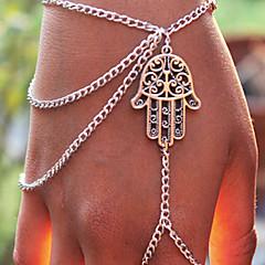 Damskie Bransoletki z breloczkami Bransoletka z pierścionkiem Inspirujący Modny Osobiste Europejski Stop Biżuteria NaImpreza Codzienny