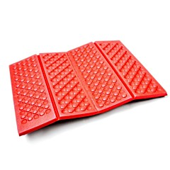 Portable Folding Outdoor Camping vochtwerende pad-Rood + Zwart