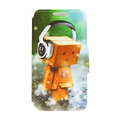 Kinston Happy Puppet Pattern PU Leather Full Body Case with Stand for iPhone 4/4S
