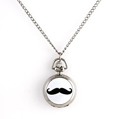 Noir Mastache Motif de femmes Quartz métallisé collier de montre