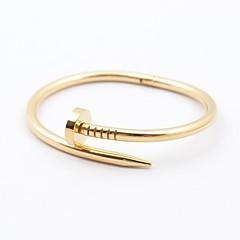 Fashionabla Män Guld / Silver / Rose Gold 316L Stainless Steel Nail Form Armband