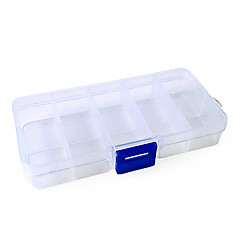 2x5 Cell Empty Storage Box case for False Nail Art Set tips