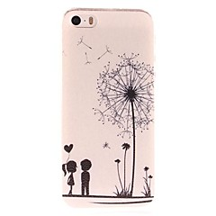 Dandelion and Lovers Pattern PC  Hard Case for iPhone 5/5S