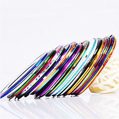 12PCS 12-Color afstribningstape Linje Nail Stripe Tape Nail Art Decoration Sticker