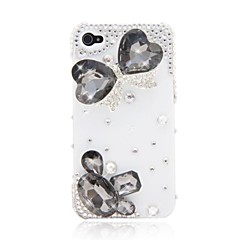 HOHONG (TM)  Bling Butterfly Bathing Rhinestones Case for iPhone 4 / 4S