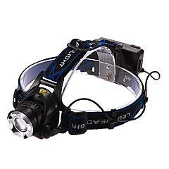 Lights Headlamps LED 900/1600/1200/450 Lumens 3 Mode Cree XM-L T6 / Cree XM-L2 T6 18650 Rechargeable Multifunction Aluminum alloy