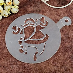 Environmental Protection PP Spray Flowers Die Hard Spray Father Christmas Cake Mold