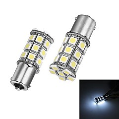 Merdia 1156 5W 27x5050SMD LED White Light for Car Backup / Steering Light (24V/ A Pair)