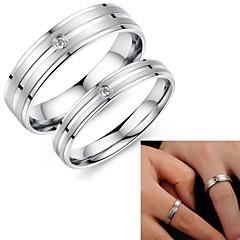 súper amantes bastante simples del amor fijados anillos de titanio anillo de acero PROMIS sinfín de parejas