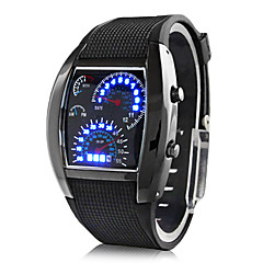 Men's Watch Sports Speedometer Style LED Digital Wrist Watch Cool Watch Unique Watch