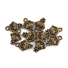 Tiny Monkey Bronze Alloy Charms 10 Pcs/Bag