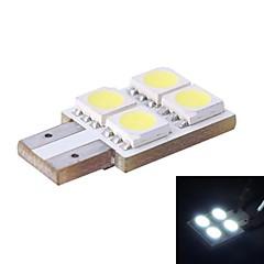 T10 / W5W 0.8W 80LM 4x5050 SMD weiße LED für Auto Lesen / Kfz-Kennzeichen / Türleuchte (DC12V, 1Stk)