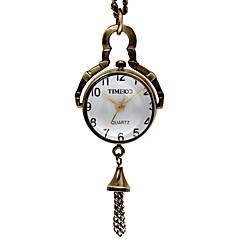 Time100 Women Fashional European-style Metal Band Retro Necklace  Bronze Case Watch  Quartz Watch