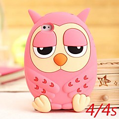 Cute Owl Silikon Saker for iPhone 4/4S (assorterte farger)