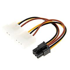 4 Pin Molex to 6 Pin PCI-E Power Adapter (12cm)