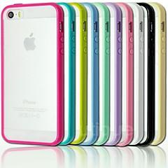 fregar volver parachoques TPU caso para el iphone 5 / 5s (colores surtidos)