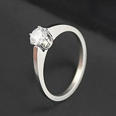 Fashion Simple Zircon Alloy Ring