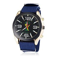 Men's Soccer World Cup Theme Fabric Band Quartz Wrist Watch (Assorted Colors)