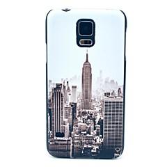 Famosos Padrão construção de New York Hard Case Capa para Samsung Galaxy i9600 S5