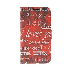 Kinston I Love You Pattern PU Leather  Full Body Case with Stand for Samsung S4 I9500