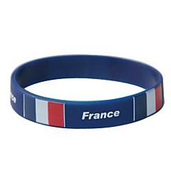 France Flag Pattern 2014 World Cup Silicone Wrist Band