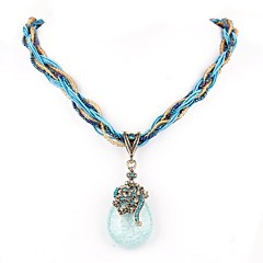 Beige / Red / Blue / Green Pendant Necklaces Wedding / Party / Daily / Casual Jewelry
