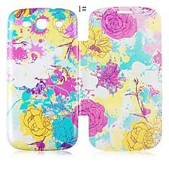 Couro Série Flor Caixa de corpo inteiro para Samsung Galaxy S3 I9300 (cores sortidas)