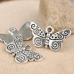 Eruner®21*12MM Cute Butterfly Alloy Charms Jewelry DIY(10pcs)