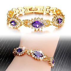 Ms Fashion Beautiful Luxury High-Grade Zircon 3 A Purple Bracelet Exquisite Gift