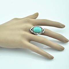 Vintage Nainen Turkoosi Säädettävä Ring (Green) (1kpl)