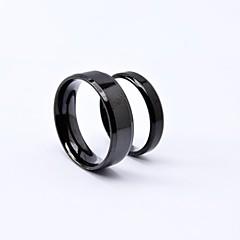Punk Black Titanium Steel Couple Rings