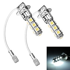 Merdia H3 5W 300LM 13x5050SMD LED White Light Car Pannlampa / Dimljus - (12V / 2 st)