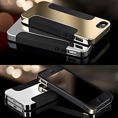 """Toophone ® Joyland """"I"""" em forma de metal fosco superfície de silicone Voltar para o iPhone 5/5S (cores sortidas)"""