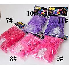 BaoGuang®300PCS Rainbow Color Loom Bright Color Fashion Loom Rubber Band(12pcs Hook,Assorted Colors)
