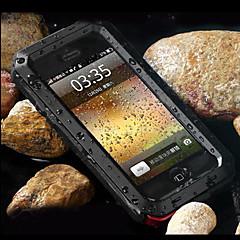 toophone® joylandsuper transformador metal frio à prova d'água e poeira e anti raspar de volta caso para iphone 4 / 4s